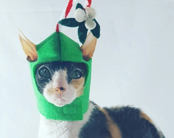 Mistletoe pet hat for cats dogs small pets holiday Christmas