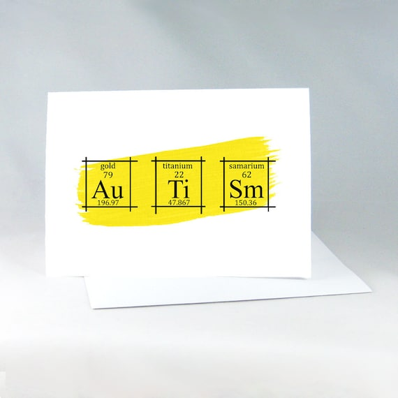 Autism Card Periodic Table of the Elements Science Elements