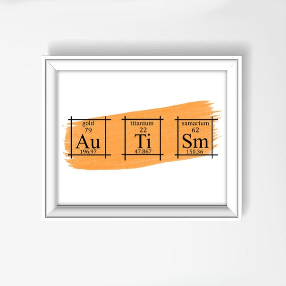 Autism wall art poster periodic table of elements art etsy image 0 urtaz Gallery
