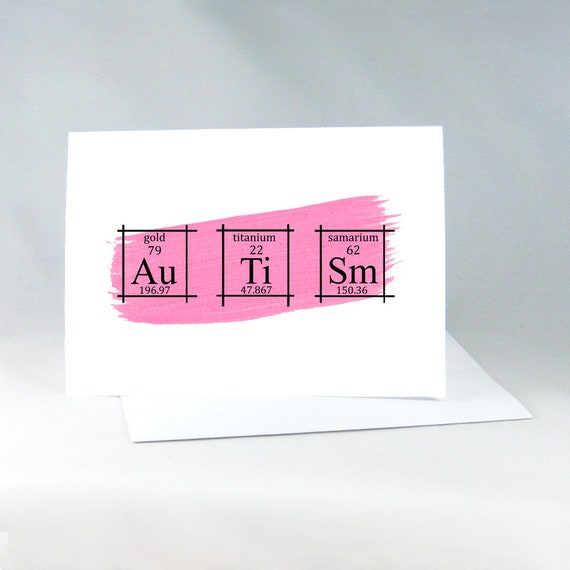 Autism card periodic table of the elements science elements etsy urtaz Gallery