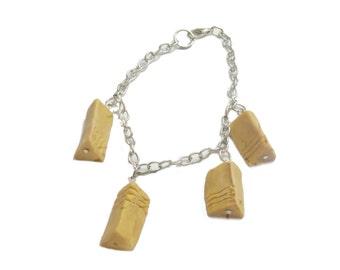 Fifth Element Stone bracelet, Geek jewelry, Stone jewelry, Earth Air fire water,