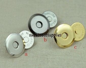 18mm super thin magnetic snap (strongly magnetic) 3 color, 15 sets