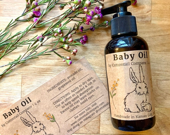 Baby Oil / Natural Moisturizer / Sensitive Skin Friendly