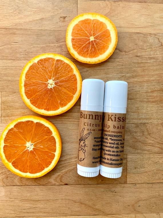 Bunny Kisses Natural Lip Balm - Citrus - Food Grade, Organic Ingredients
