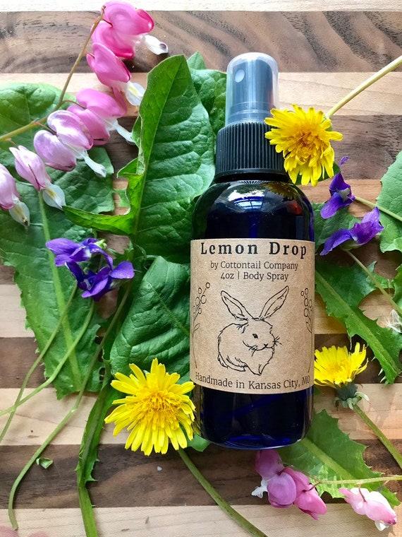 Lemon Drop Body Spray / Body Mist / Natural Perfume Spray
