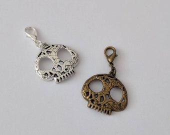 Skull Planner Charm | TN Charm | Planner Accessorie