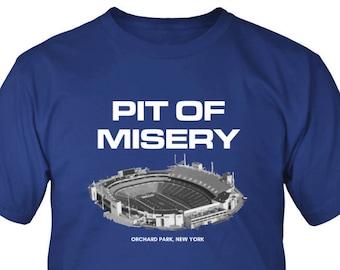 83fd0aaf1 Pit of Misery Buffalo Bills Long Sleeve Shirt - Bills Mafia Short Sleeve  Shirt - Dilly Dilly Short Sleeve Shirt