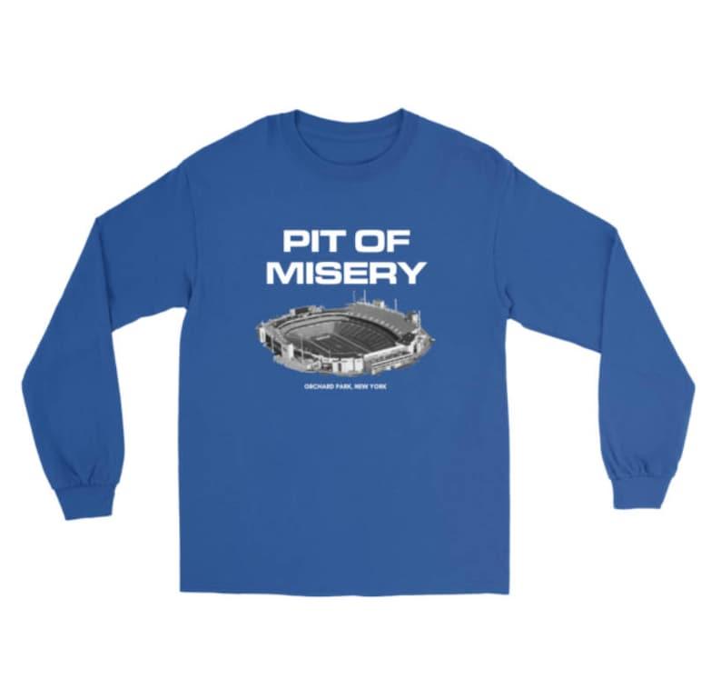 20e4bd801 Pit of Misery Buffalo Bills Long Sleeve Shirt Bills Mafia