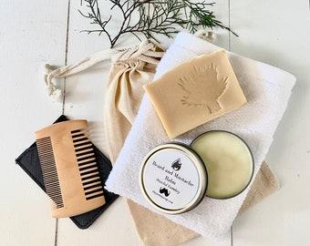Beard and Mustache Balm Men's Gift Set ~Goat Milk Soap~ For Bearded Men ~Beard Gift Set