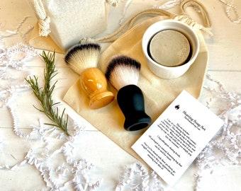 Shaving Soap Set ~Old Fashioned Shaving Set ~Shaving Soap for Sensitive Skin ~Shaving Brush