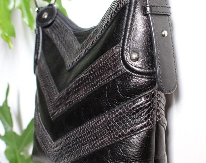 Etienne Aigner Black Leather Bag