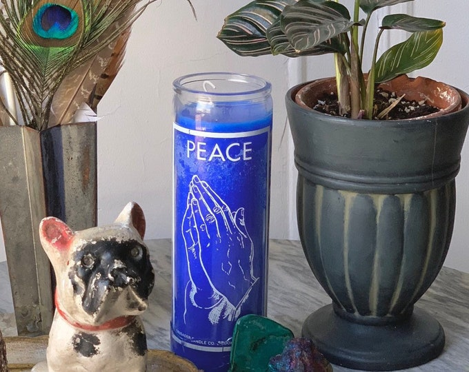 PEACE Religious Altar Candle