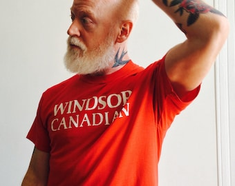 Vtg Red 'Windsor Canadian' Tee