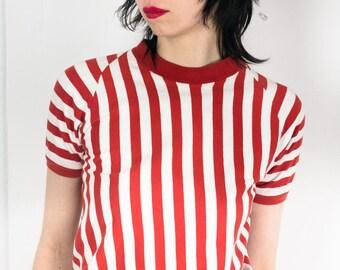 70s striped tshirt