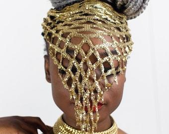 Golden Mesh Disco Necklace