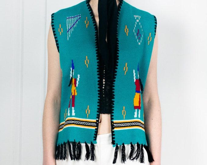 40s SouthWest Wool Vest