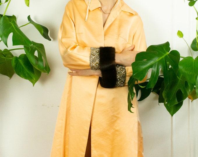 60s Satin Melon Coat