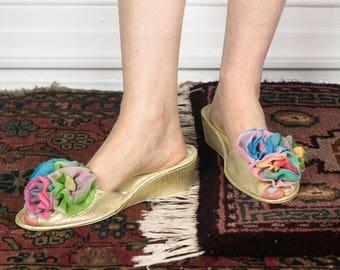 50's Rainbow Boudoir heel