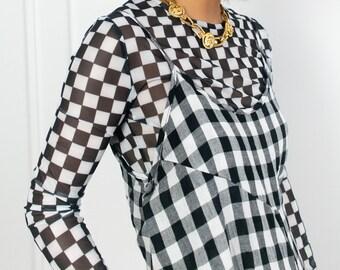 Linen Gingham Jumpsuit