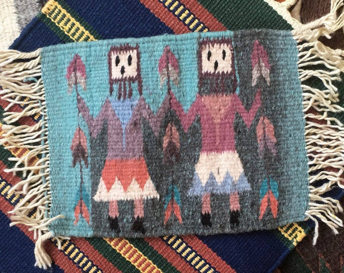 Handwoven Happy People Table Rugs