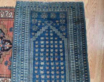 Indigo Turkish Prayer Rug