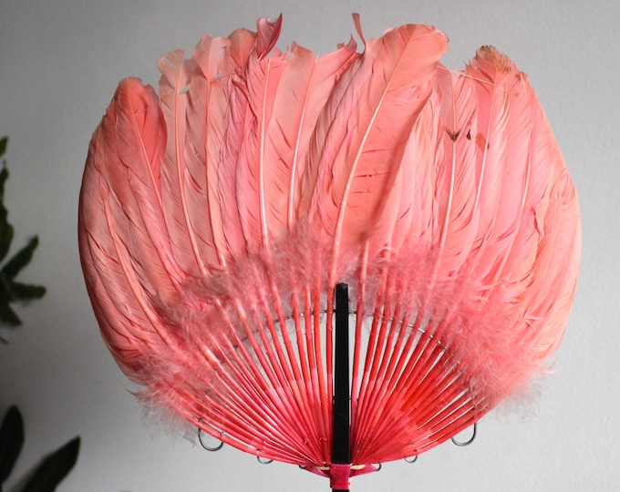 Pink Victorian Feather Fan