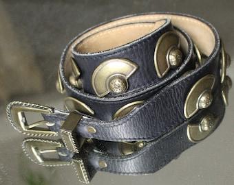 Half Moon Leather Concho Belt