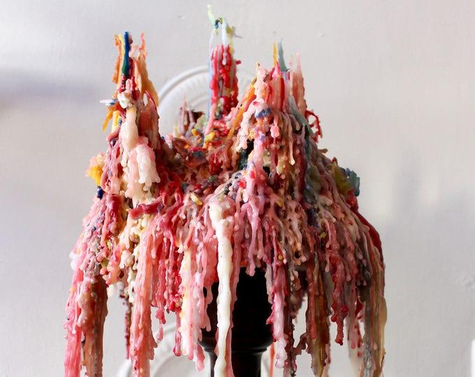 Rainbow Drip Candles