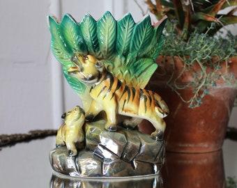 20s Wild Tiger Vase