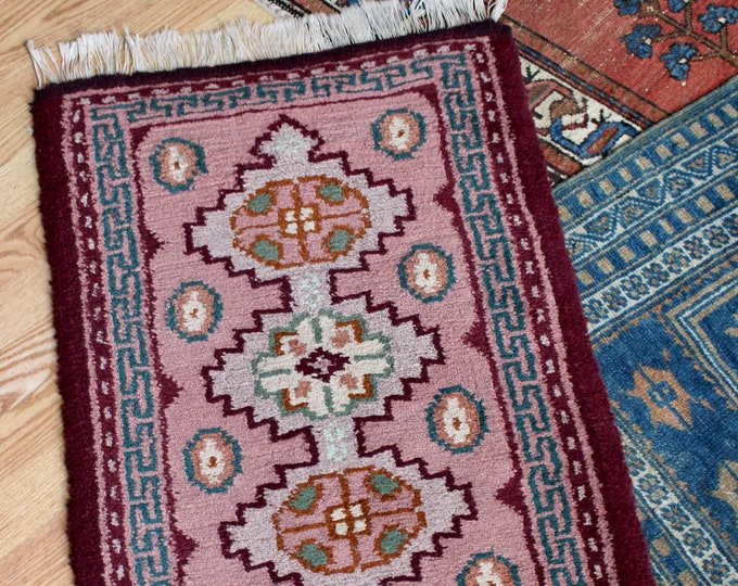 Antique Maroon World Traveler's Rug