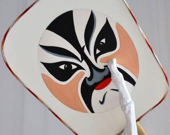 Artisan Painted Mask Hand Fan