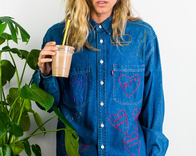 70s Levi's Embroidered Chambray Shirt