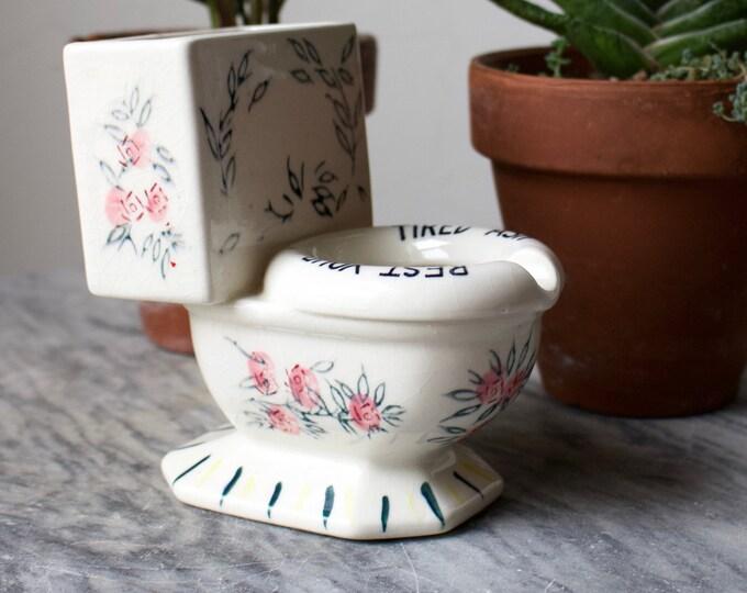 Tired Ash Toilet Bud Vase/Ashtray HYBRID