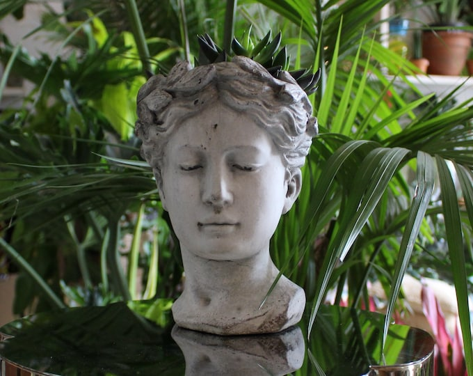 Italian Goddess Head Planter