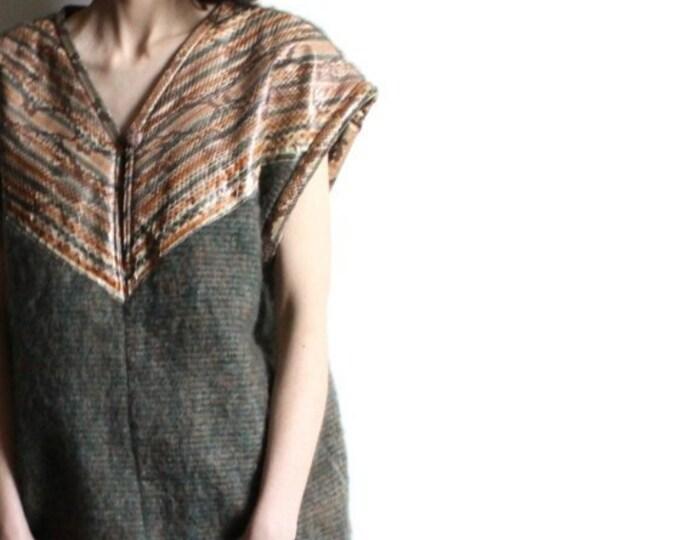 Vintage Snake and Wool Vest