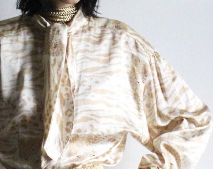 ESCADA Wild Cat Silk Blouse