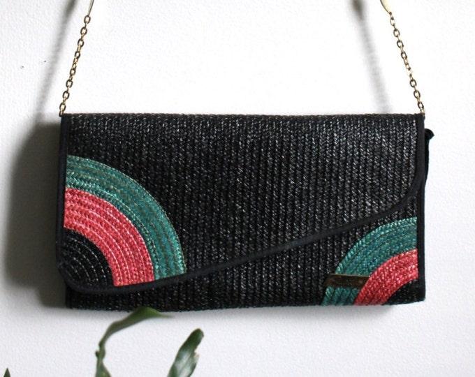 Italian Deco Woven Resort Bag