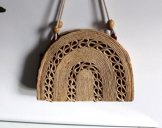 Woven Straw Naturalist Bag