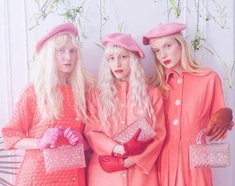 Pastel Pink Wool Beret