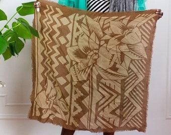 80s Tropics Wool Scarf