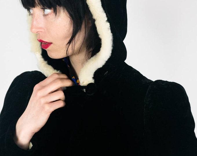 30s Velvet Fur Coat