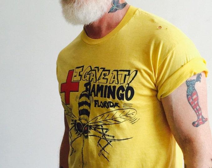 Vtg Yellow 'Flamingo Florida' Tee Shirt