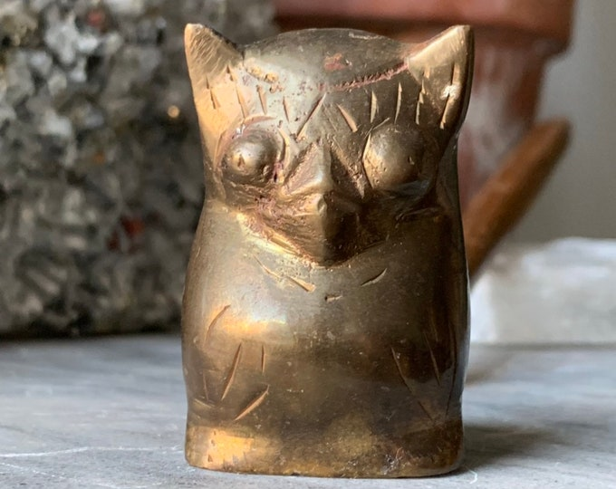 Vintage Brass Animal Candle Snuffer