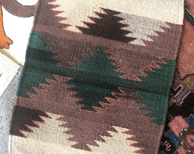 Handwoven Southwestern Table Rug