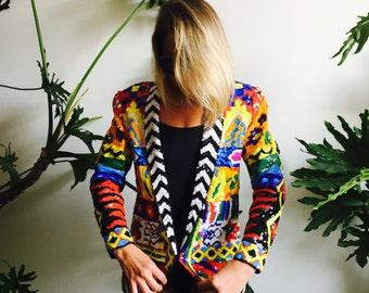 a55d61099b ... buy popular 10c50 503d7 VTG Bold Sequin Kaleidoscope Rainbow Jacket ...