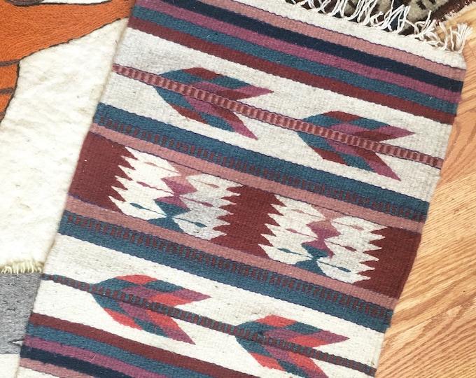 Handwoven Jewel-Toned Table Rug