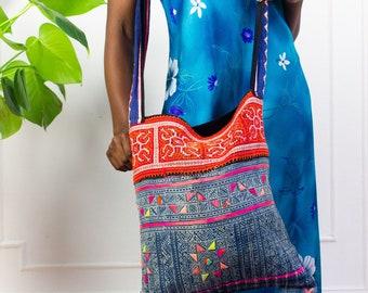 Bright Appliqué Summer Bag