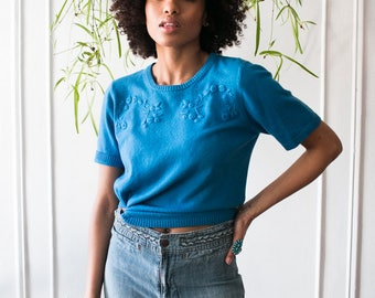Blueberry Cashmere Tee