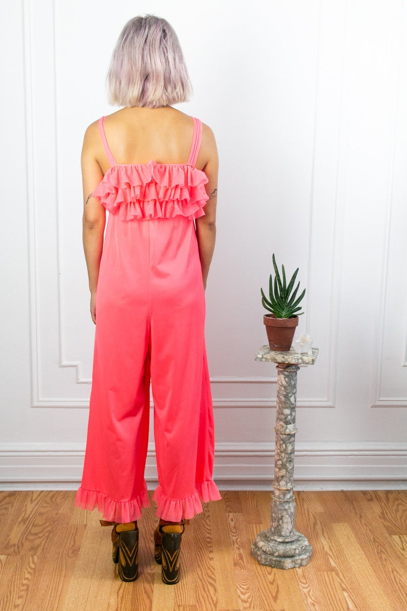 60/'s Coral Ruffle Jumpsuit