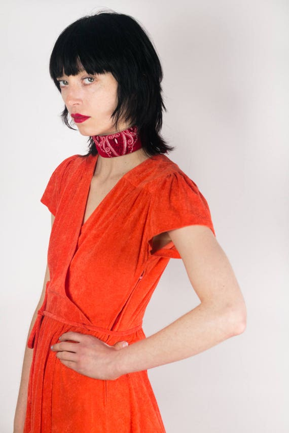 Coral Terry Cloth Dress
